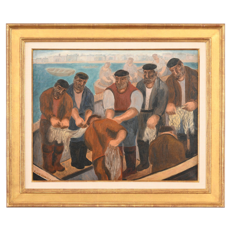 Abraham Walkowitz Modernist Painting, 20th Century
