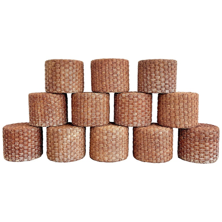Audoux Minet Style Rope Stools For Sale