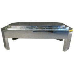 Mid-Century Modern Mirrored Coffee Table