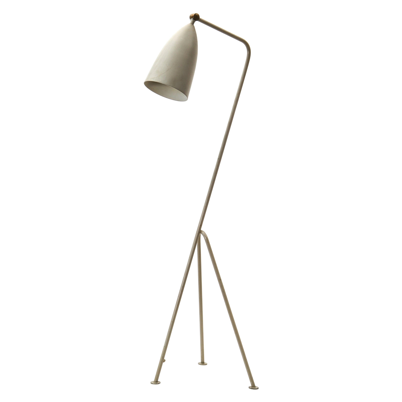 "Greta Magnusson Grossman ""Grasshopper / G-33"" Lamp in Grey for Bergboms, 1950s"