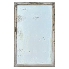 Antique Distressed Painted Wall Mirror