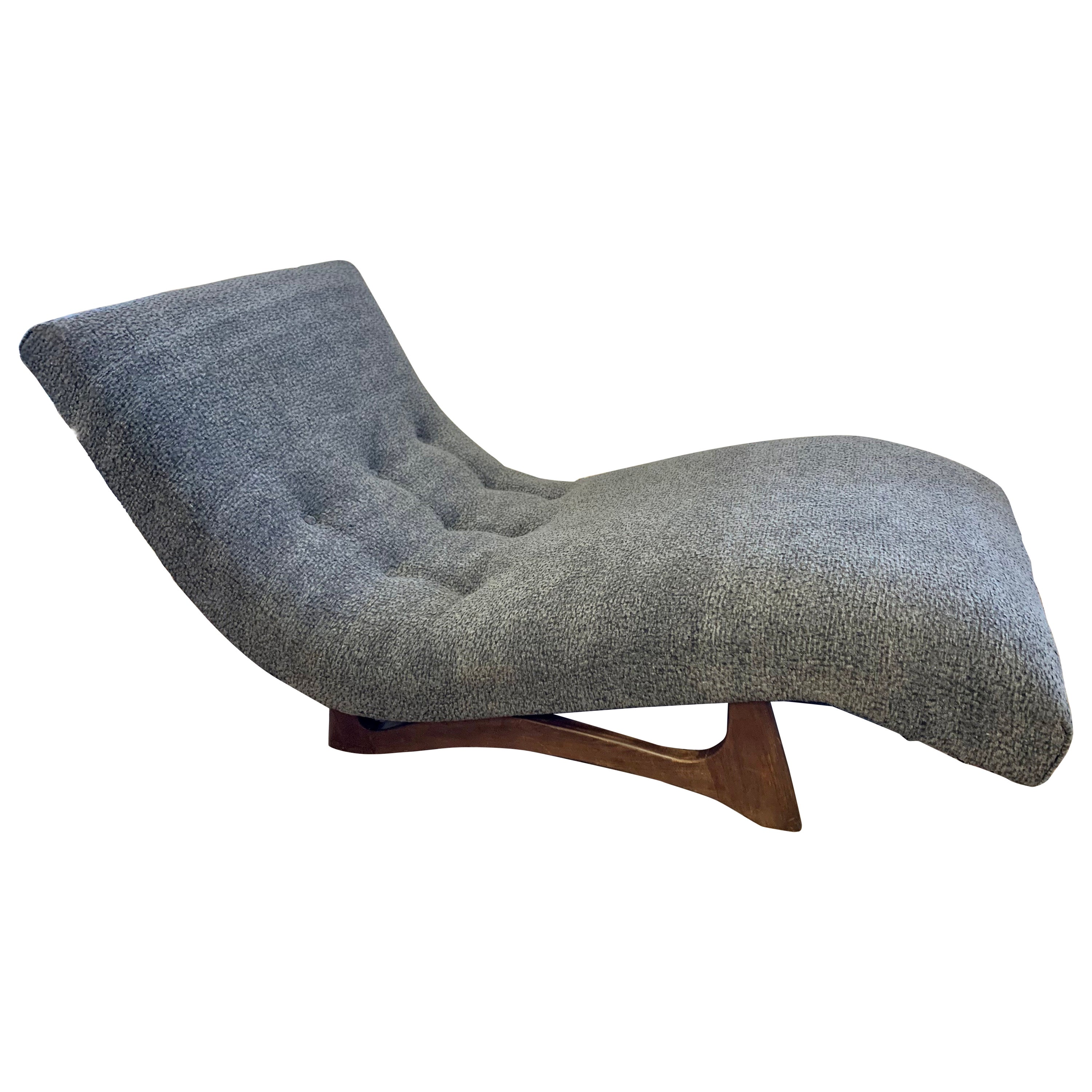Mid-Century Modern Adrian Pearsall Wave Lounge Chaise in Boucle New Fabric