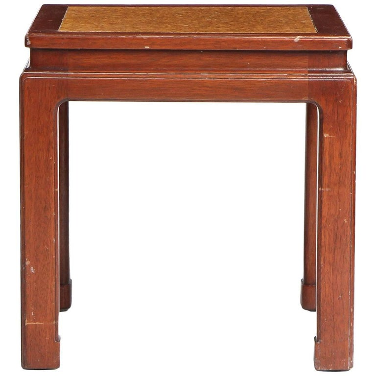 Mahogany and Cork End Table by Edward Wormley