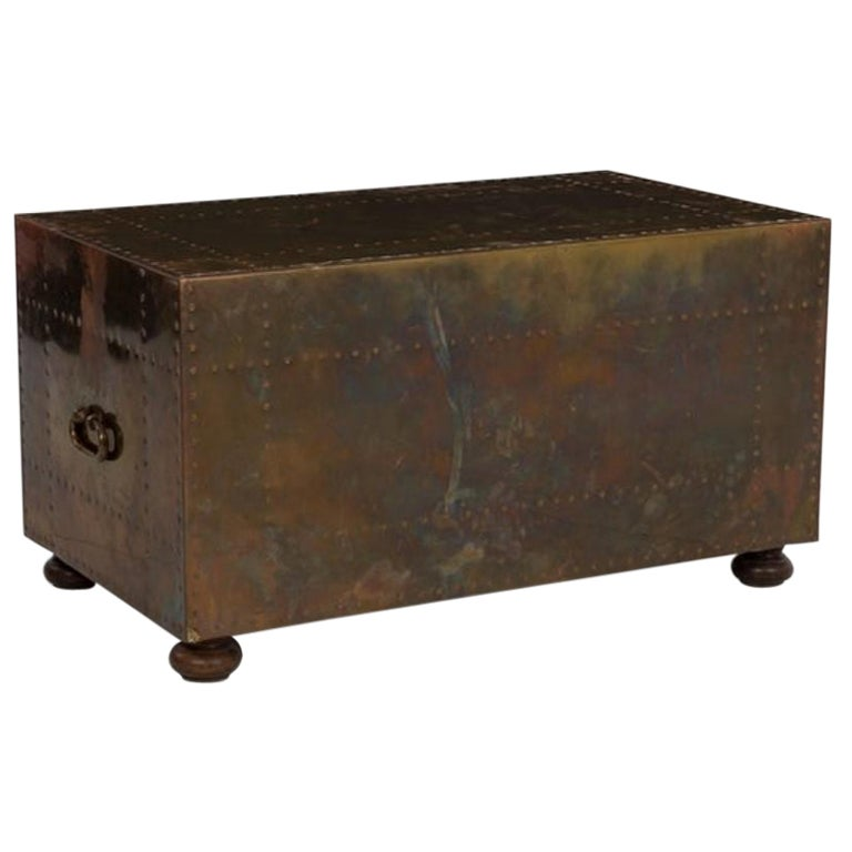 Brass Cladded Coffee Table by Sarreid Ltd. of Spain
