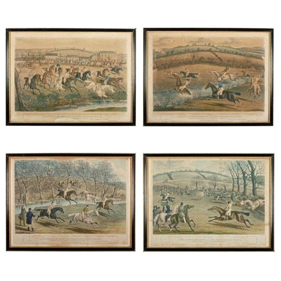 Cheltenham Grand Steeple Chase Etchings, 19th Century
