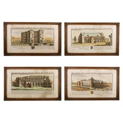 Four Coloured Prints of Wiltshire, 19th Century