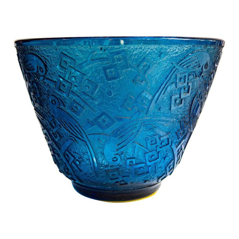 Daum Nancy Acid-Etched Glass Vase, circa 1925 For Sale