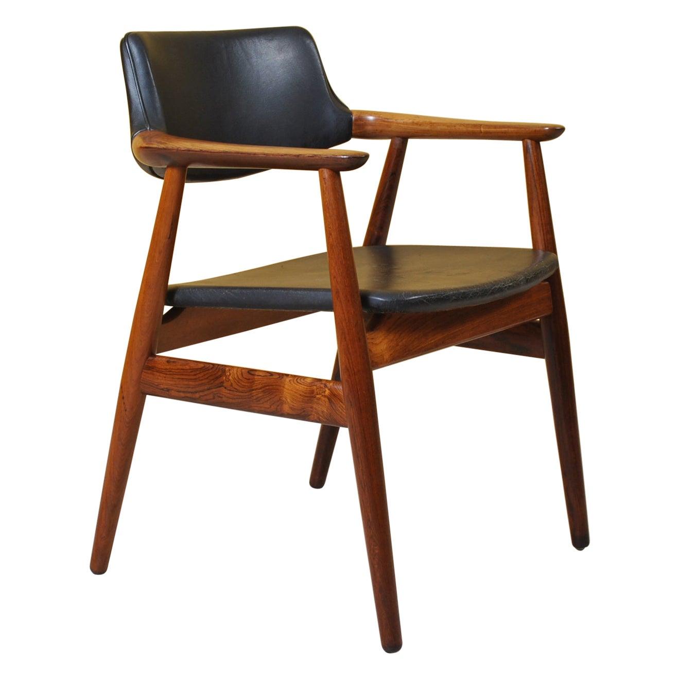 Danish Midcentury Rosewood Desk Chair, Sven Aage Eriksen