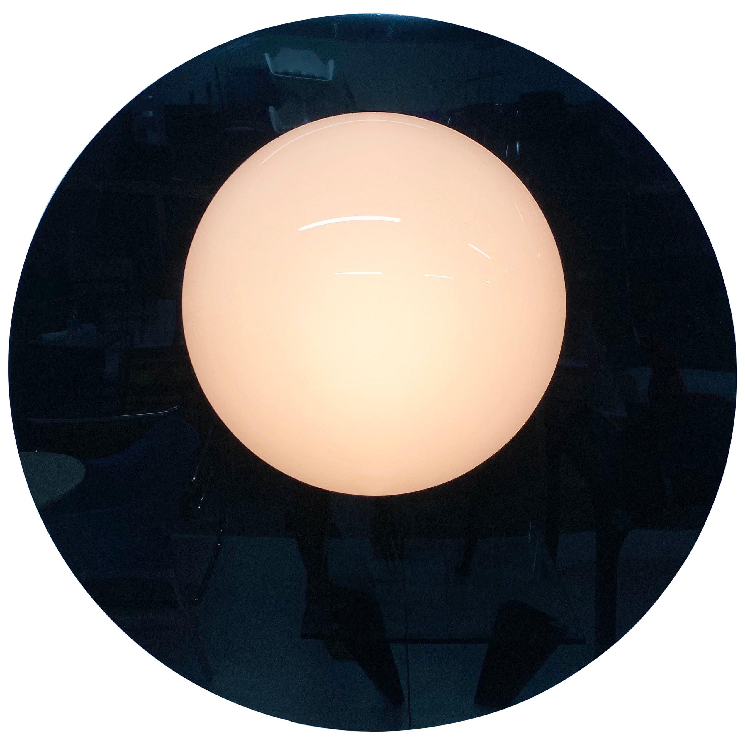 Postmodern Plexiglass Lunar Eclipse Orb Wall Mounted Lamp, 1980s