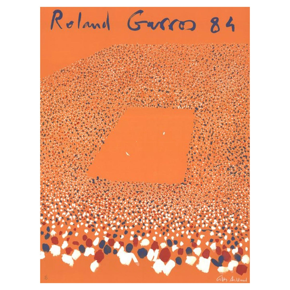 Original Lithograph 'ROLAND GARROS' 1984 Signed & Numbered by Gilles-Aillaud