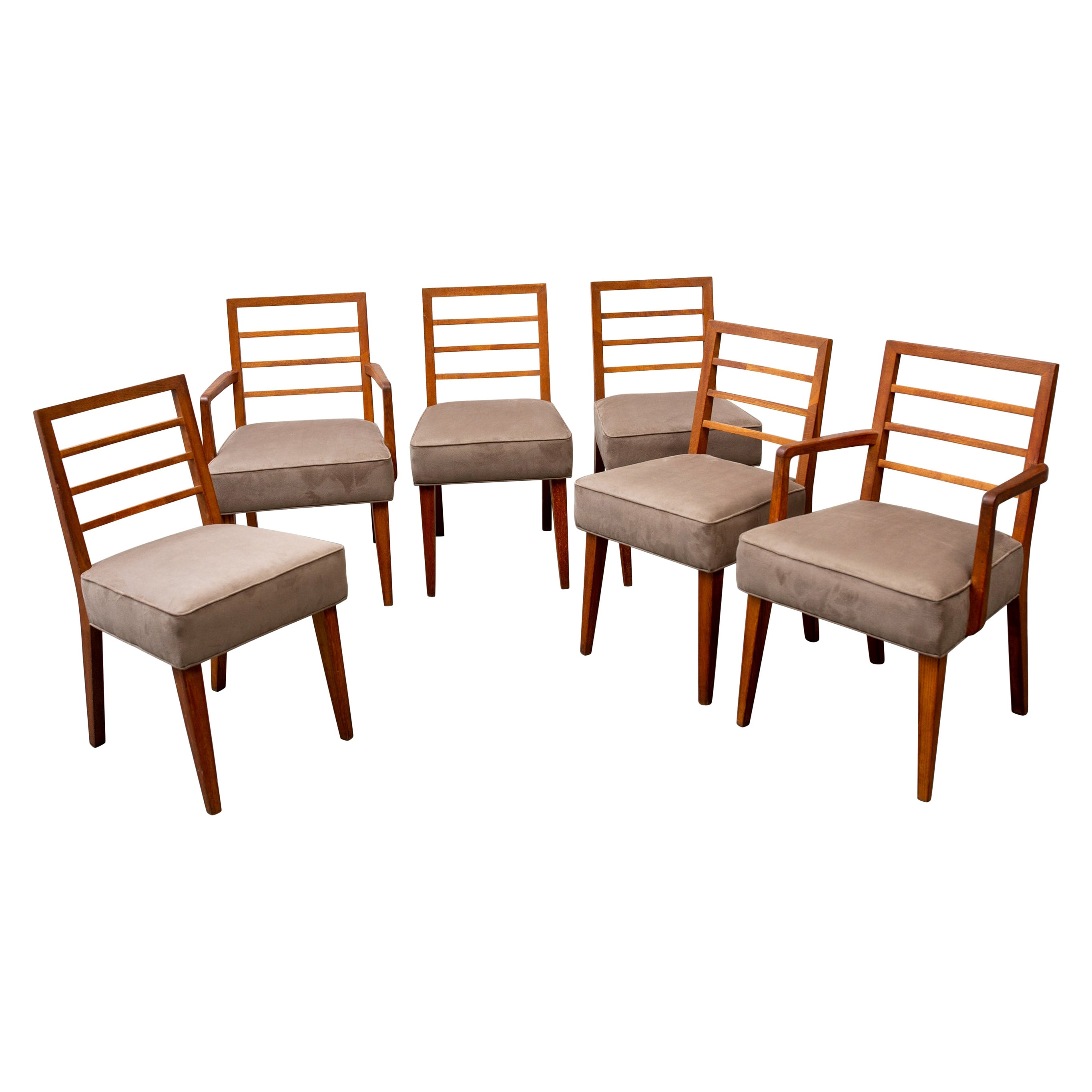 Set of Six Midcentury Dining Chairs