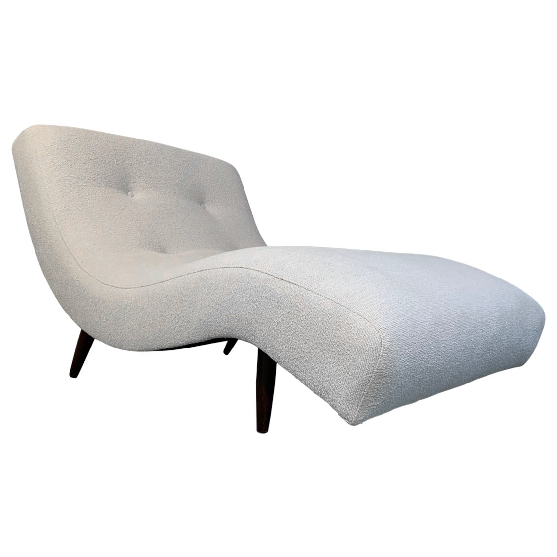 Adrian Pearsall for Craft Associates Wave Chaise in Fresh Italian Boucle