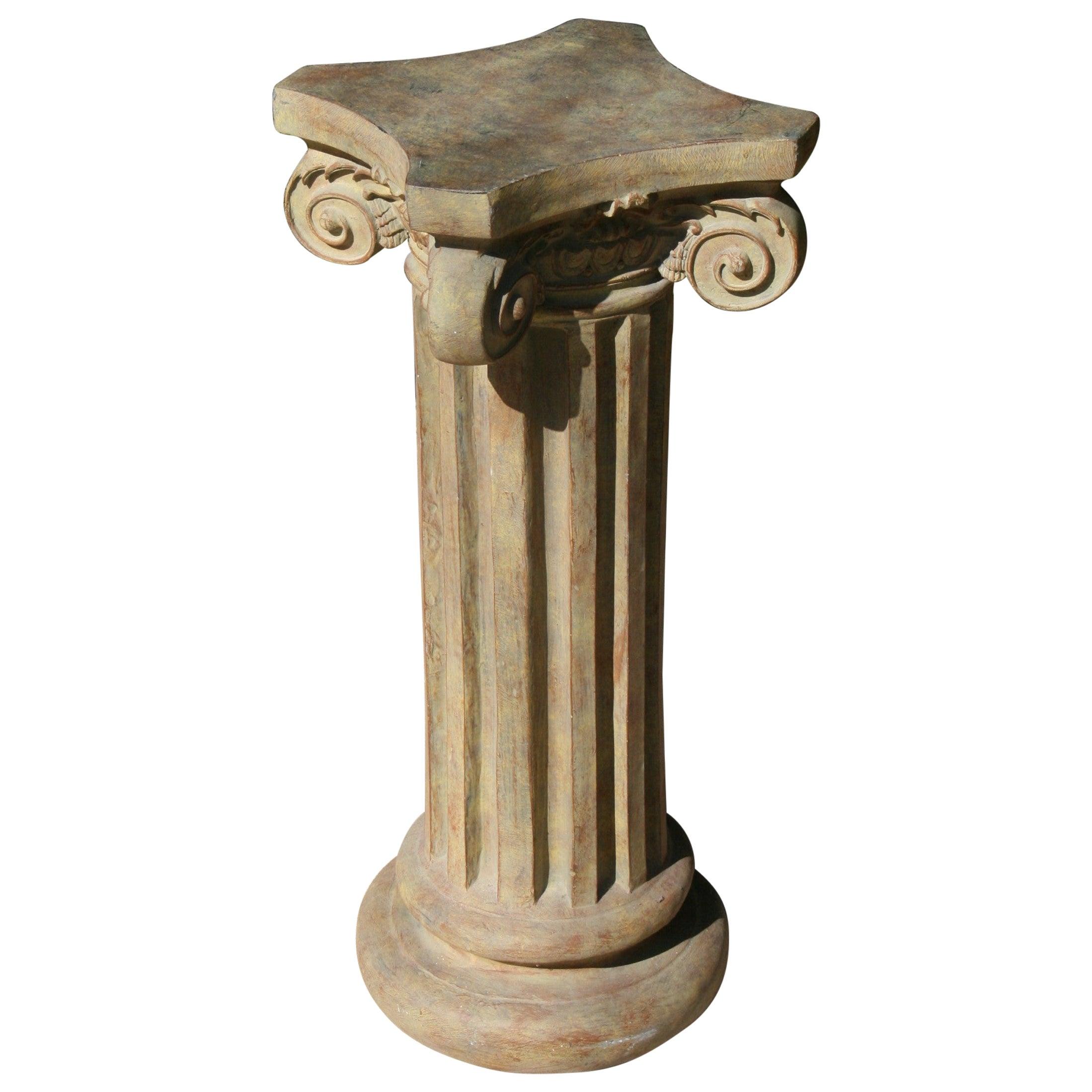 Ionic Column Garden Plant Stand/Pedestal