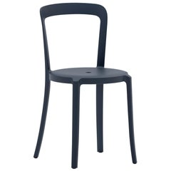 On & On Stacking Chair in Plastic with Dark Blue Frame by Barber & Osgerby