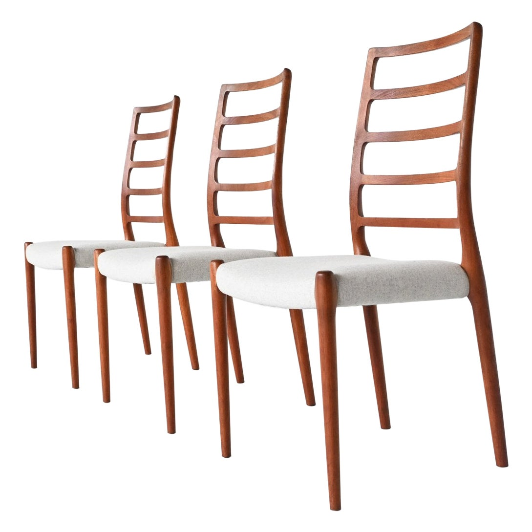 Niels Otto Moller Model 82 Teak Dining Chairs J.L. Moller Mobelfabrik Denmark 19