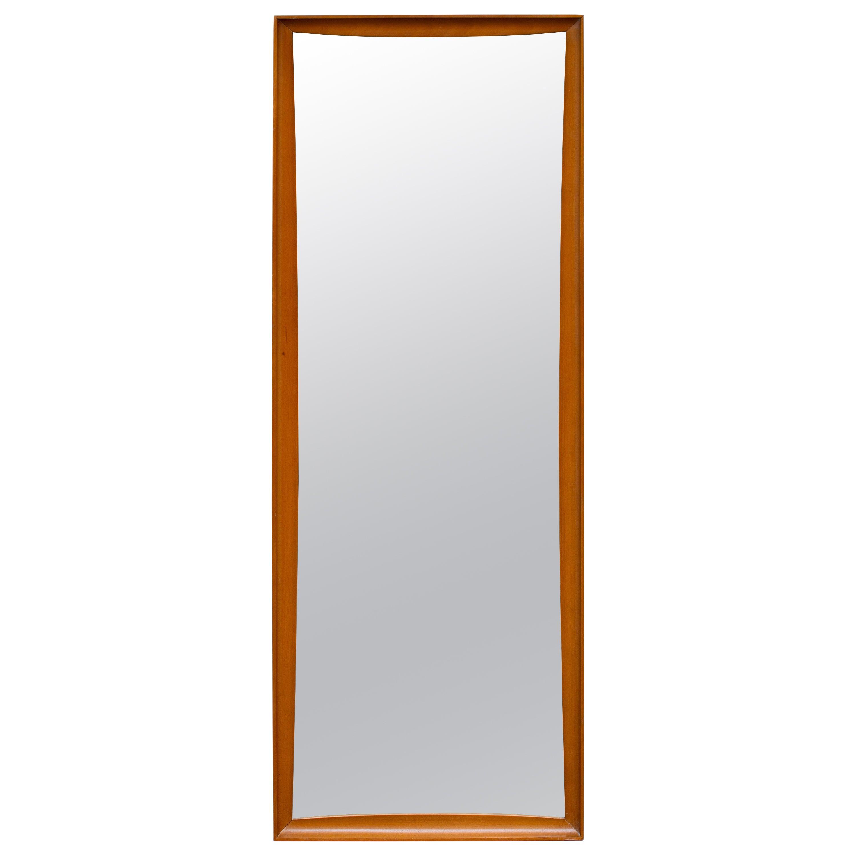 Mid-Century Modern Teak Wall Mirror Full Length, 1960s