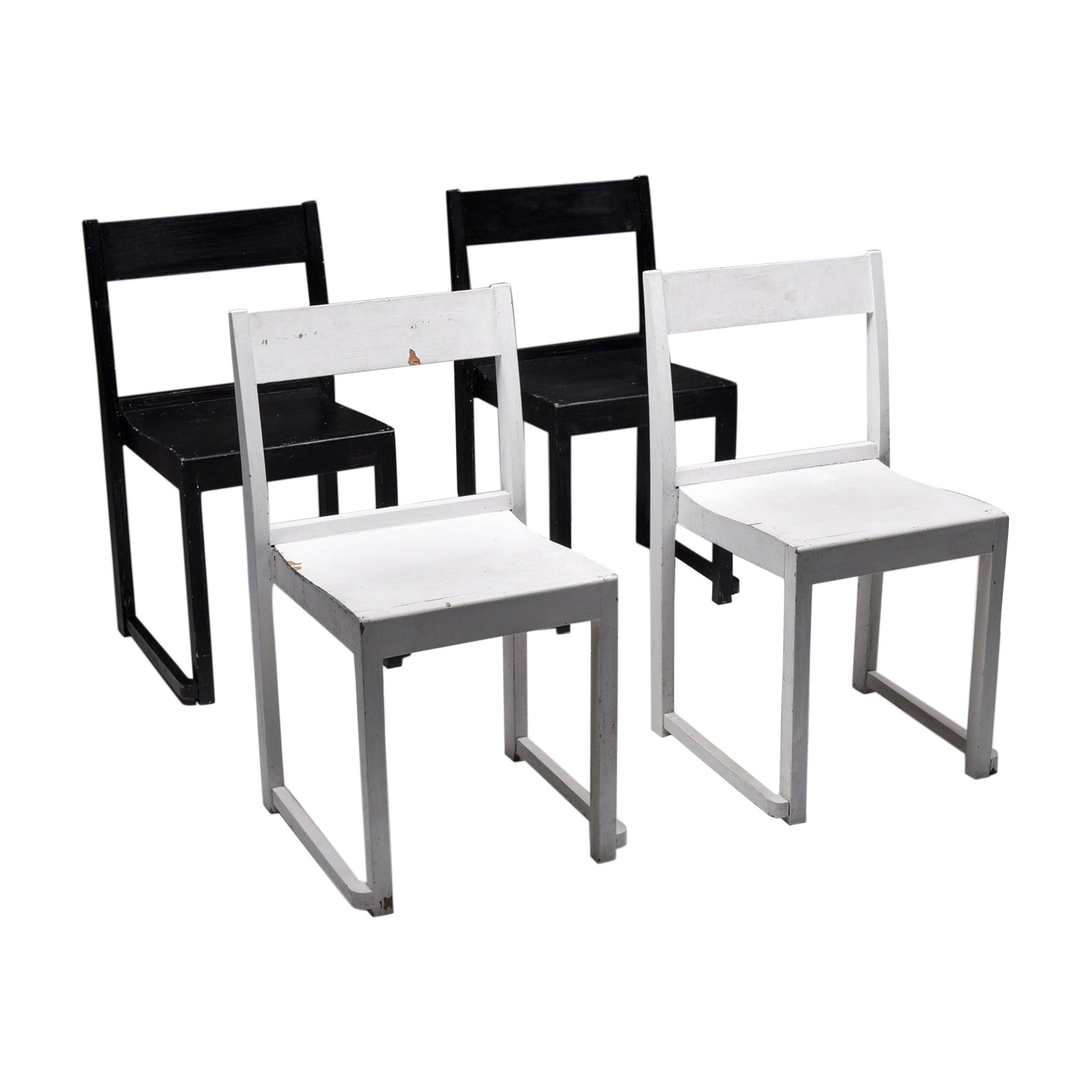 Sven Markelius 'Orchestra' Chairs Black & White