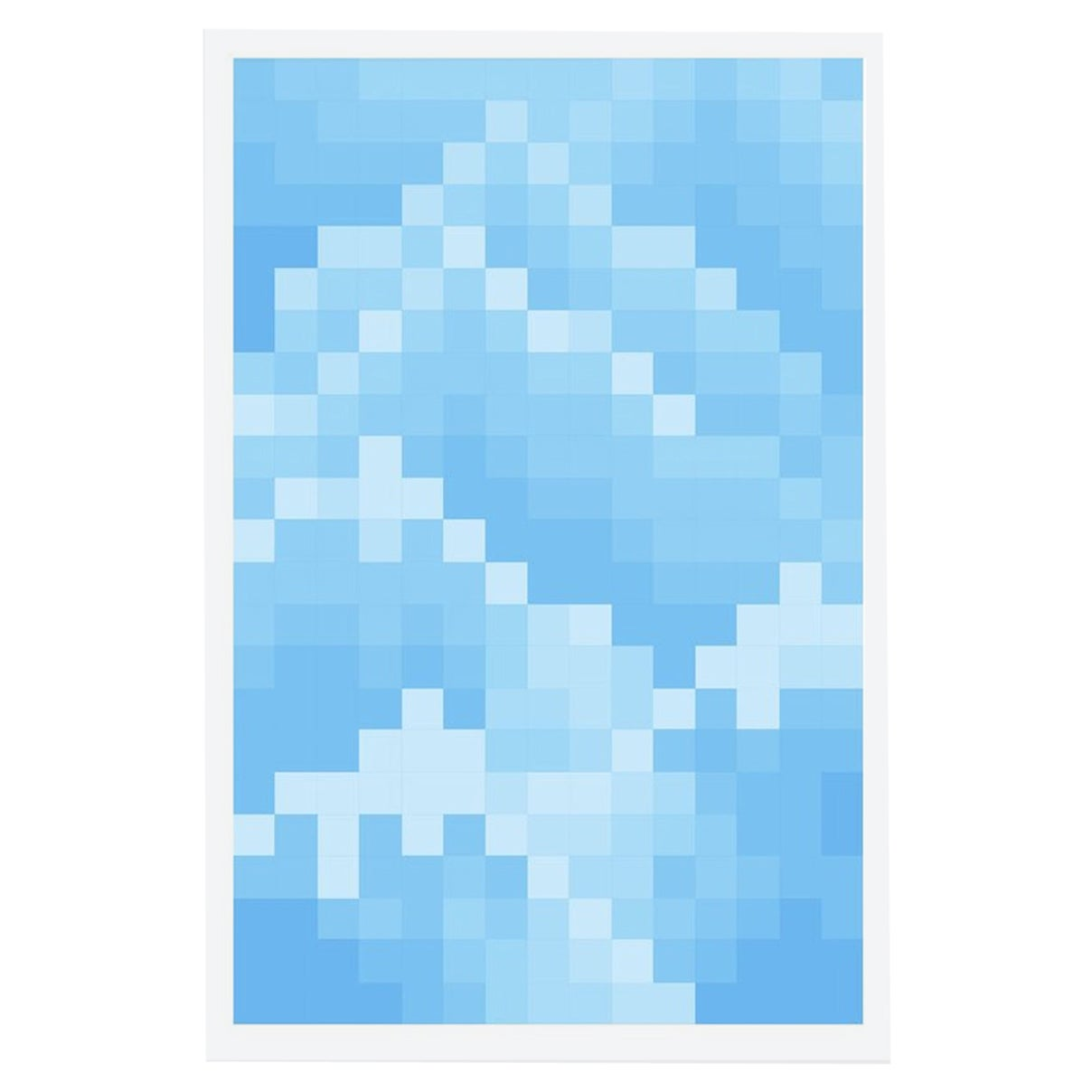 Bruce High Quality Foundation Mosaic Mountain Print Cyan Print