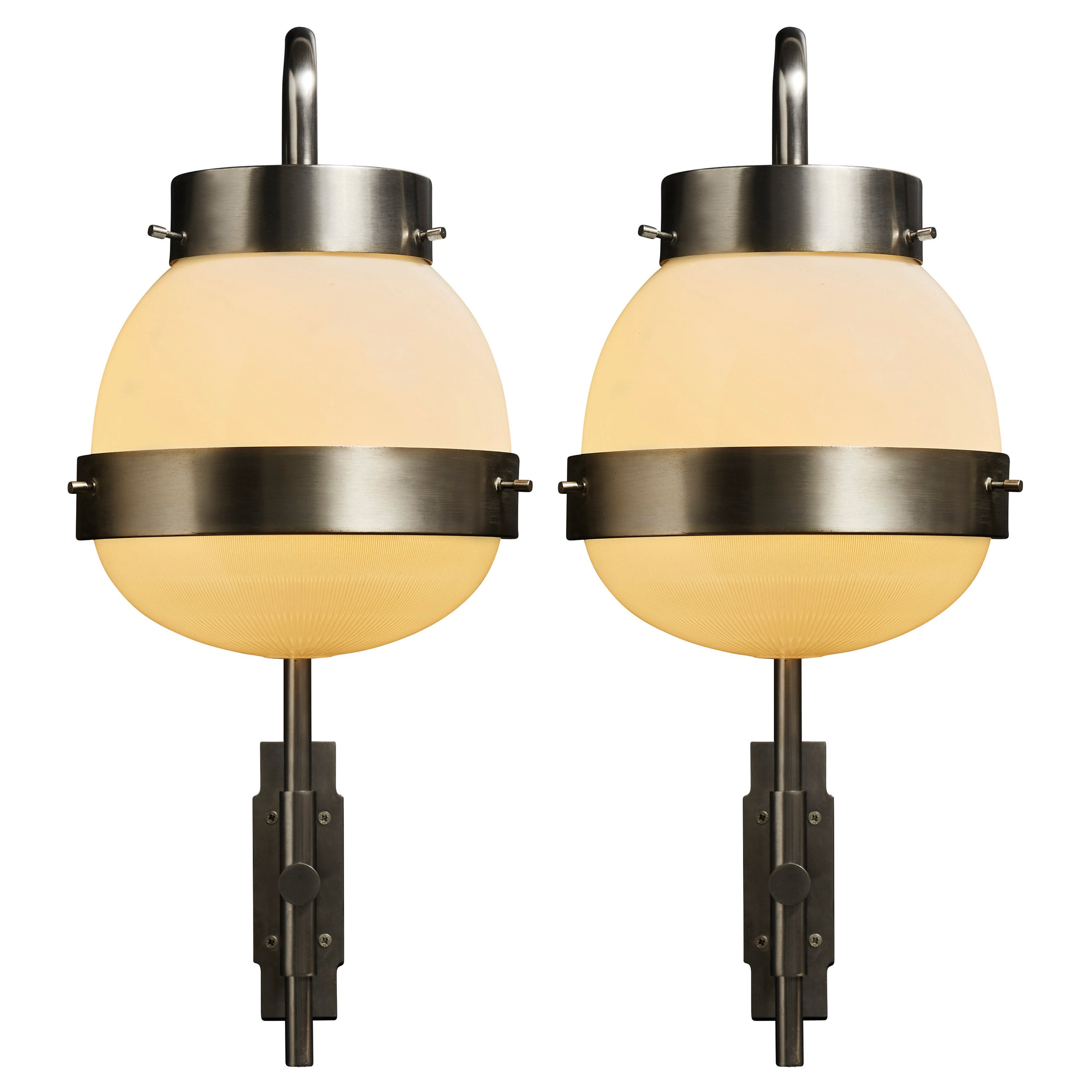 Five Large Delta Wall Sconces by Sergio Mazza for Artemide