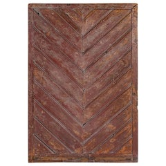 British Colonial Chevron Motif Door Element