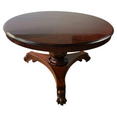 19th Century Victorian Solid Cuban Mahogany Tilt-Top Dining or Center Table