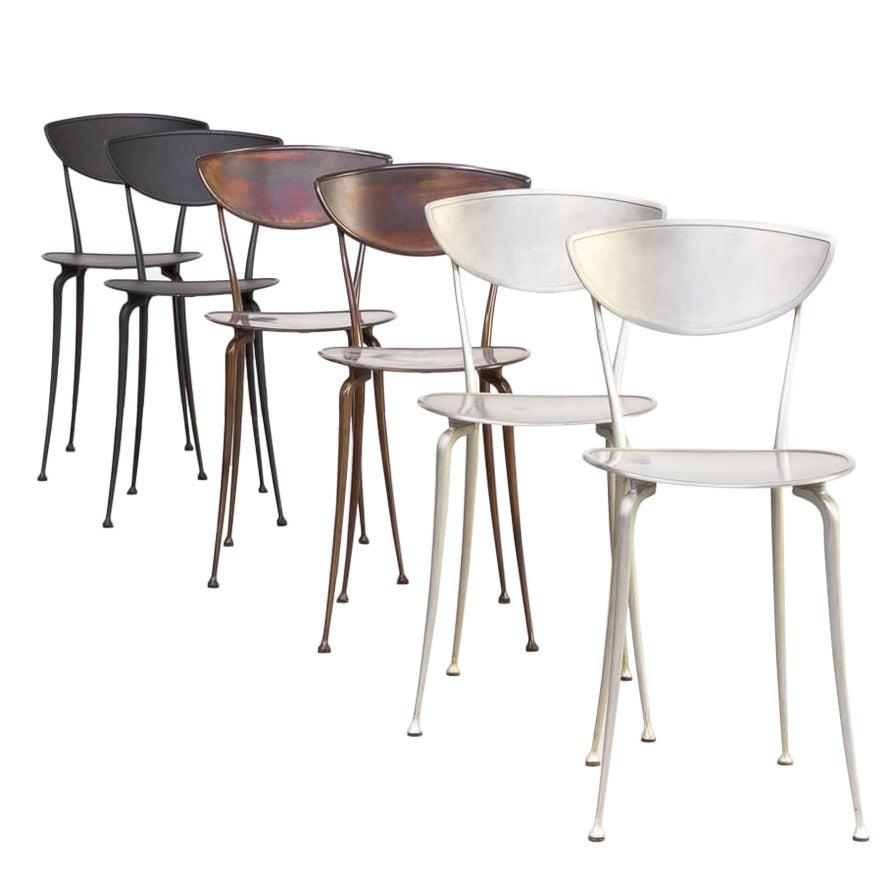 Arper Aluminium Dining Chairs Set/6
