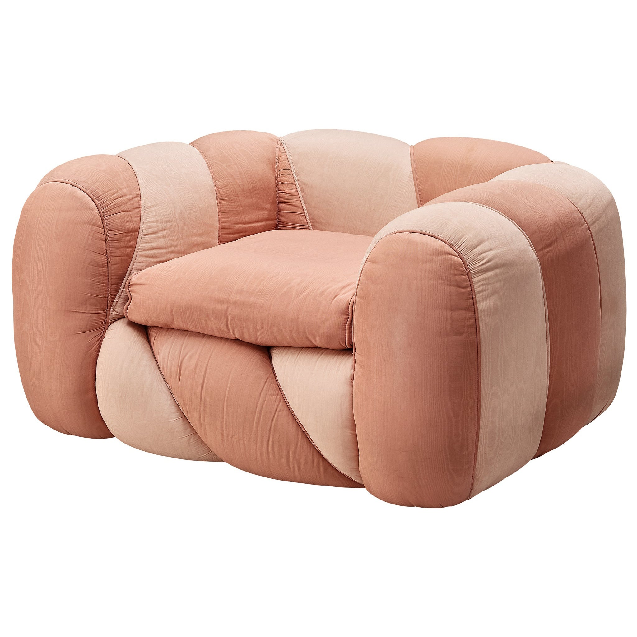 Vivai del Sud Lounge Chair in Pink Fabric Upholstery