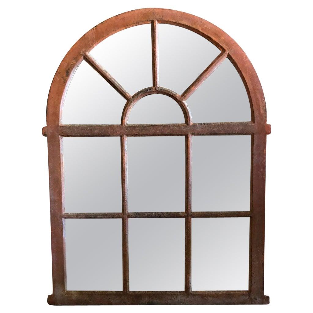 19th Century French Evreux Orangerie Metal Wall Mirror