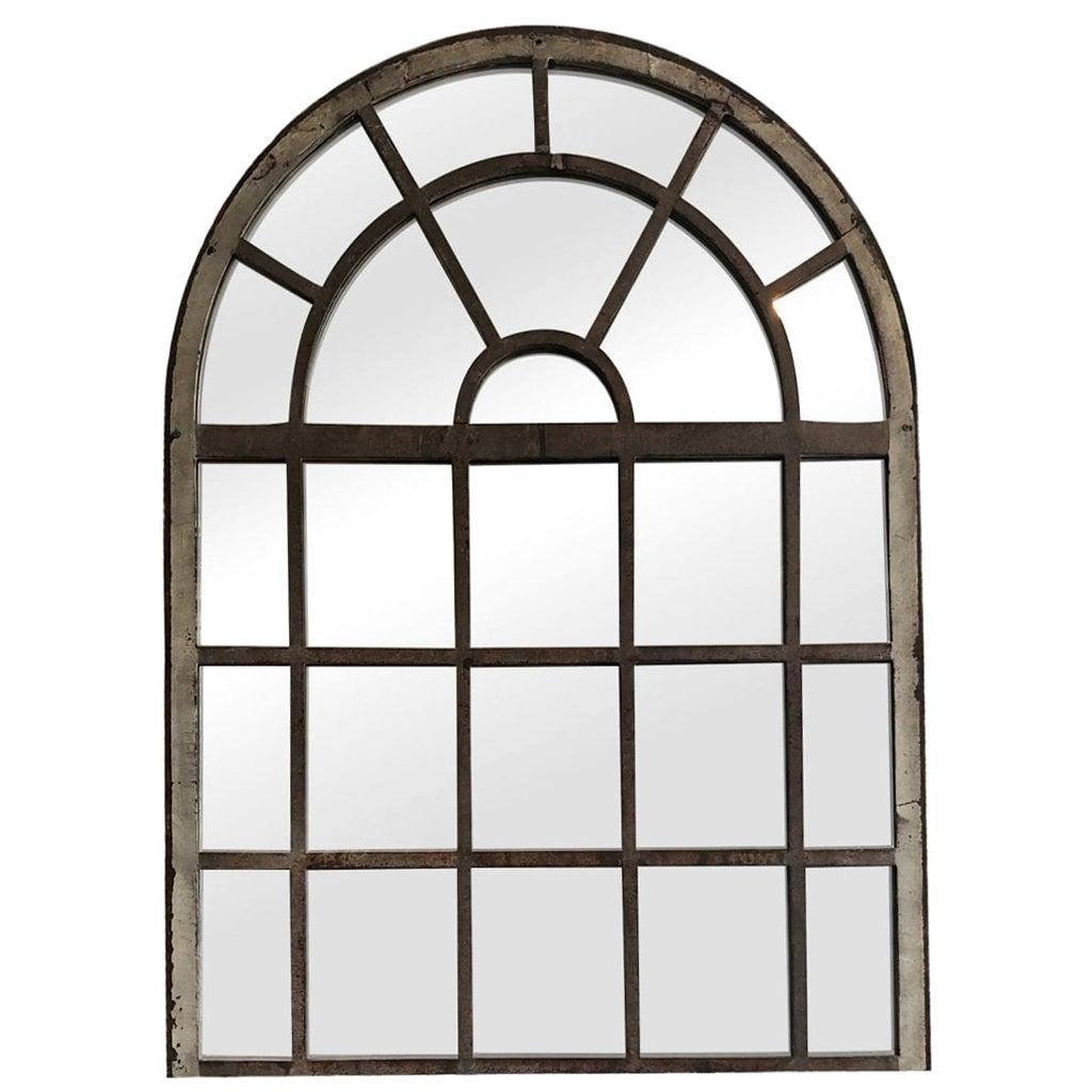 19th Century French Dugommier Orangerie Metal Wall Mirror