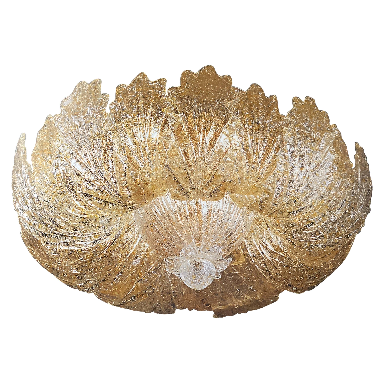 Murano Glass Leave Flush Mount or Ceiling Lights