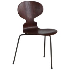 Danish Ant Dining Chair in Teak by Arne Jacobsen for Fritz Hansen, 1960s