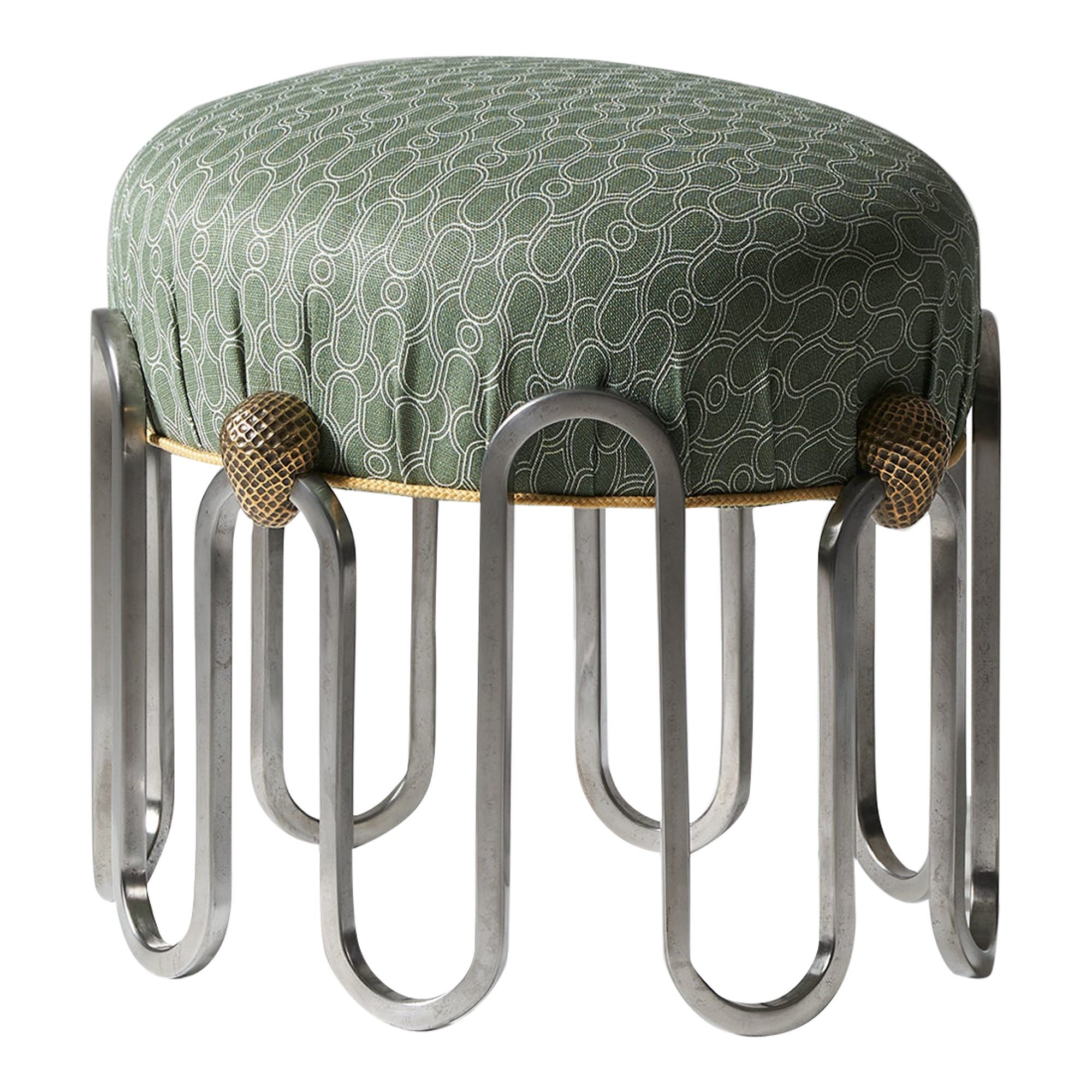 And Objects Denmead Stool, Olive