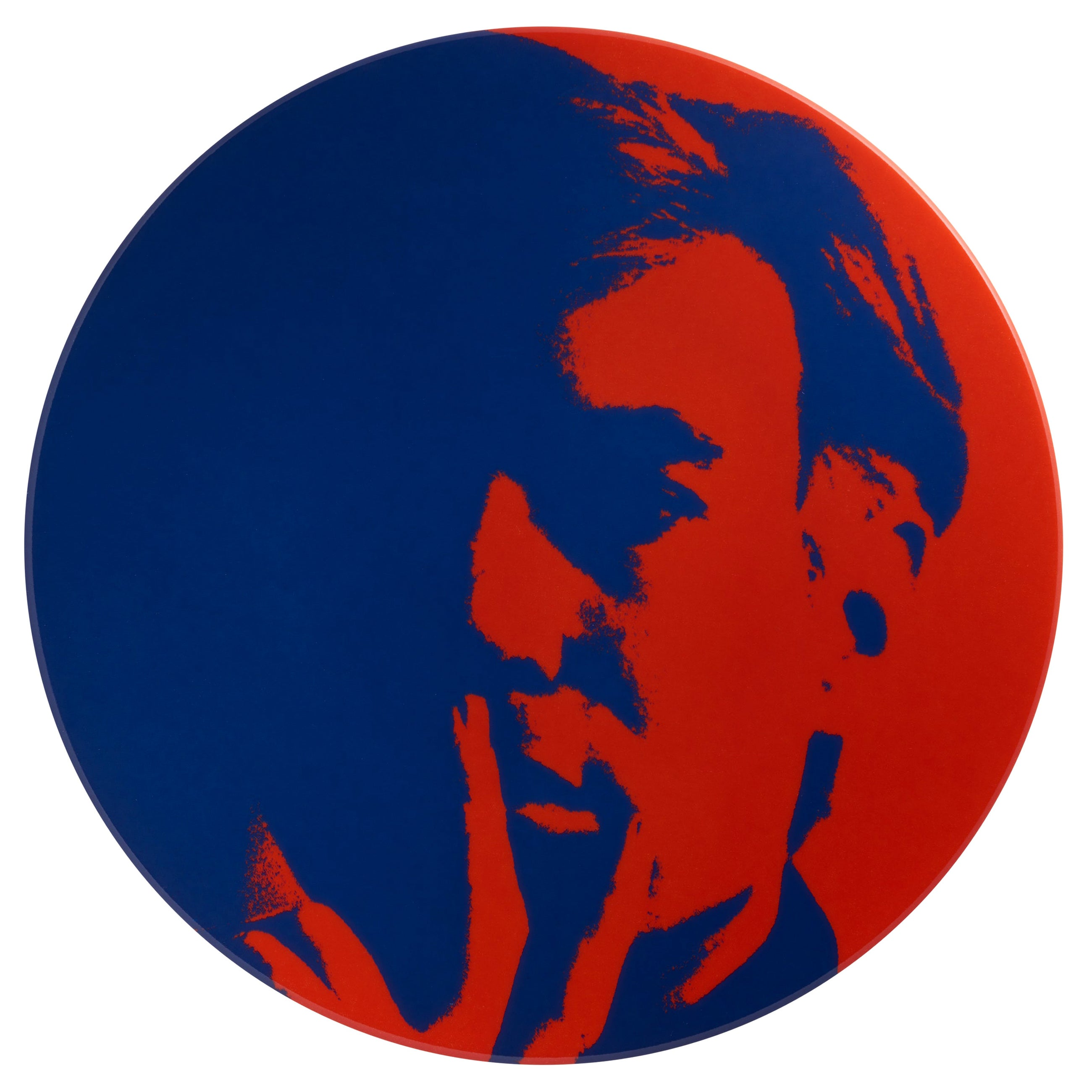 Self Portrait Plate, 'Red/Blue', After Andy Warhol