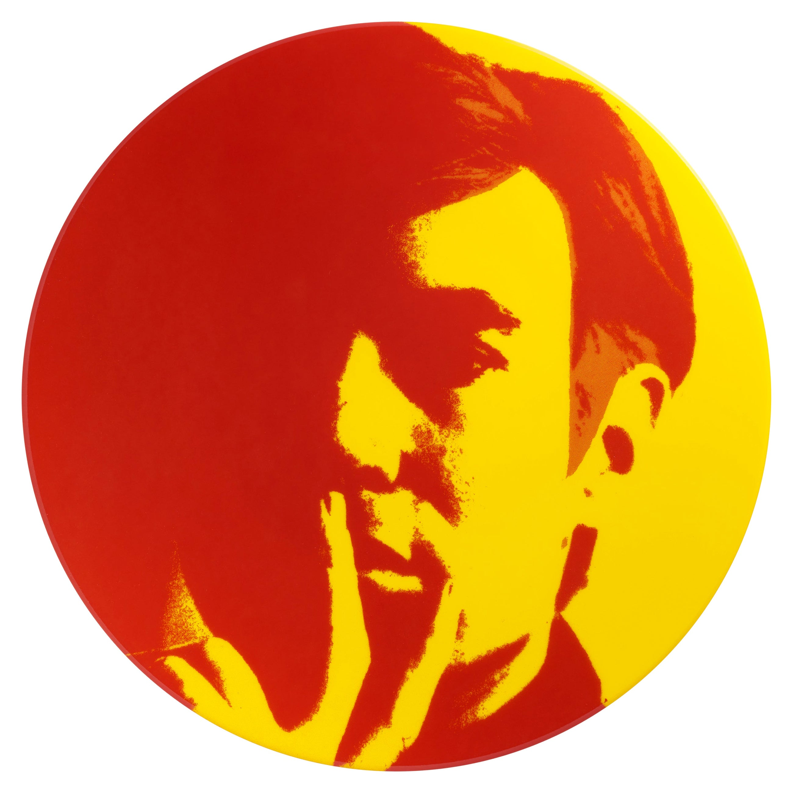 Self Portrait Plate, 'Red/Yellow', After Andy Warhol