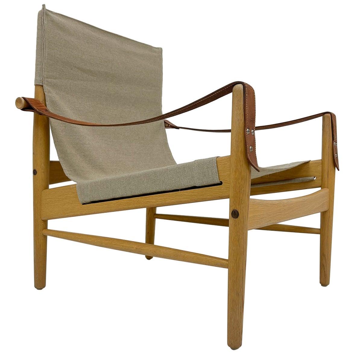 Midcentury Hans Olsen 'Gazelle' Safari Lounge Chair, 1960s