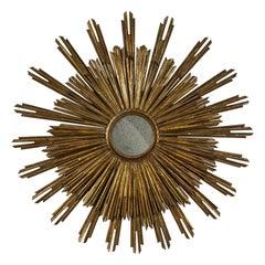 Large 19th Century Giltwood Sunburst Mirror