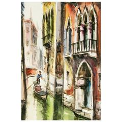 """""""Venice Canal"""" Painting"""