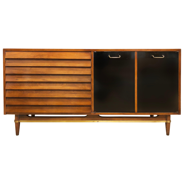 1950s Merton Gershun American of Martinsville Credenza Cabinet Dresser
