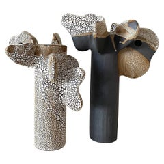 Set of 2 Tempo Sculptures by Olivia Cognet