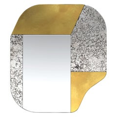 Gold and Speckled WG.C1.A Hand-Crafted Wall Mirror