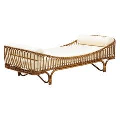 1960's Italian Bamboo Rattan Daybed Designed by Mario Cristiani for Bonacina