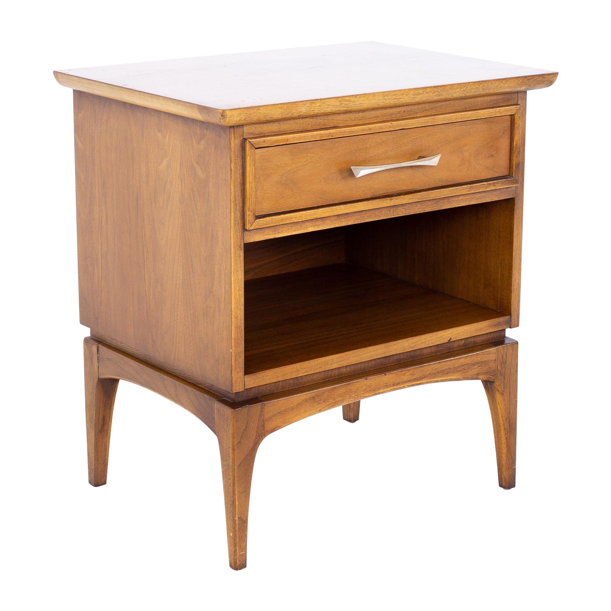 Kent Coffey the Wharton Mid Century Walnut Nightstand