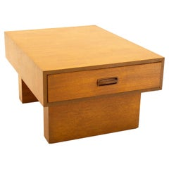 Danish Style Mid Century Teak and Rosewood End Table