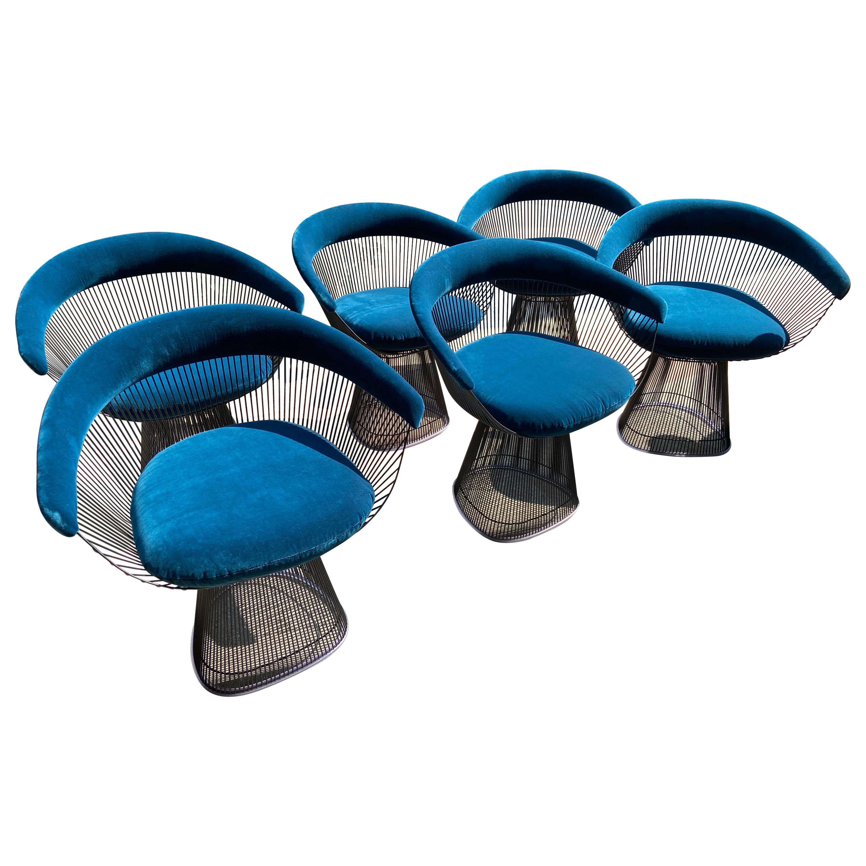 Warren Platner, Set of 6 Chairs, circa 2020