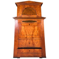 Early 19th Century Biedermeier Mahogany Pyramid Cupboard
