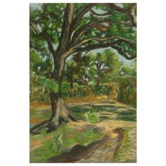 Pastel Painting-French Forest Path
