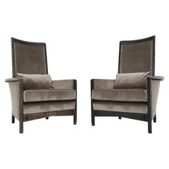 "Umberto Asnago for Giorgetti ""Peggy 63970"" Lounge Chairs, Set of 2, Italy 1990,"