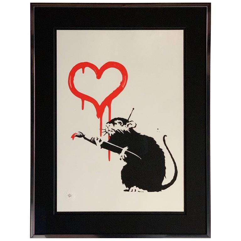 Bansky Love Rat 2004 Unsigned For Sale
