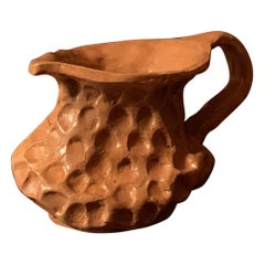 """Granulo"" Handmade Vessel in Fireclay and Enamels Contemporary Art by Jufà"