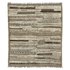 Nazmiyal Collection Earth Tones Modern Distressed Rug 12 ft 5 in x 14 ft 10 in